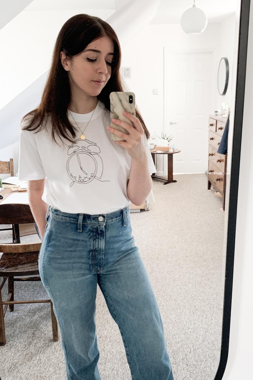 Besma wears Boyish Jeans