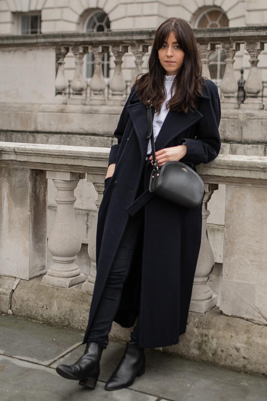 Besma wears Vintage Wool Coat