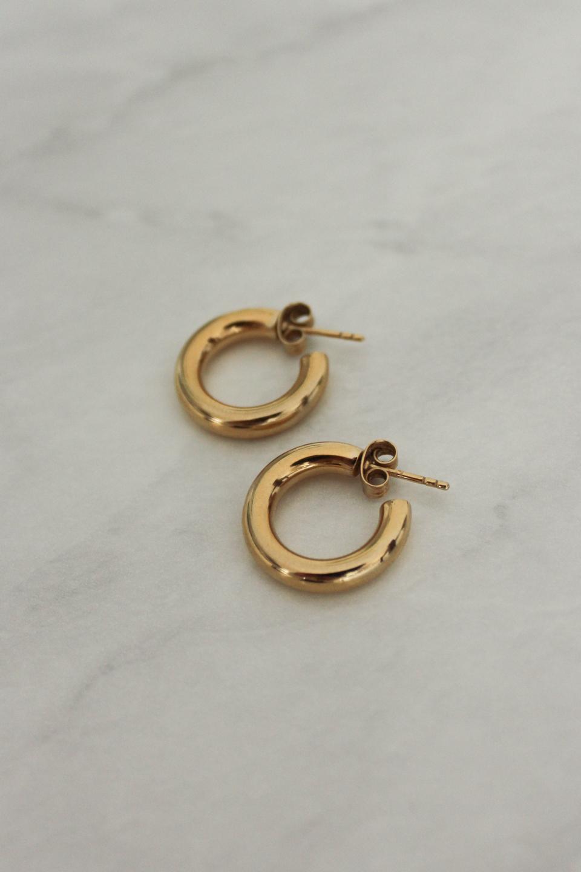 Gold Hoop Earrings from Monarc Jewellery