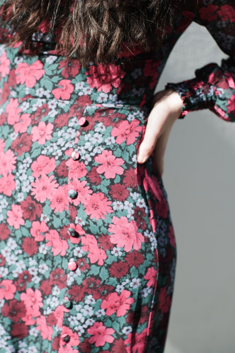 Close-up of detailing on dress