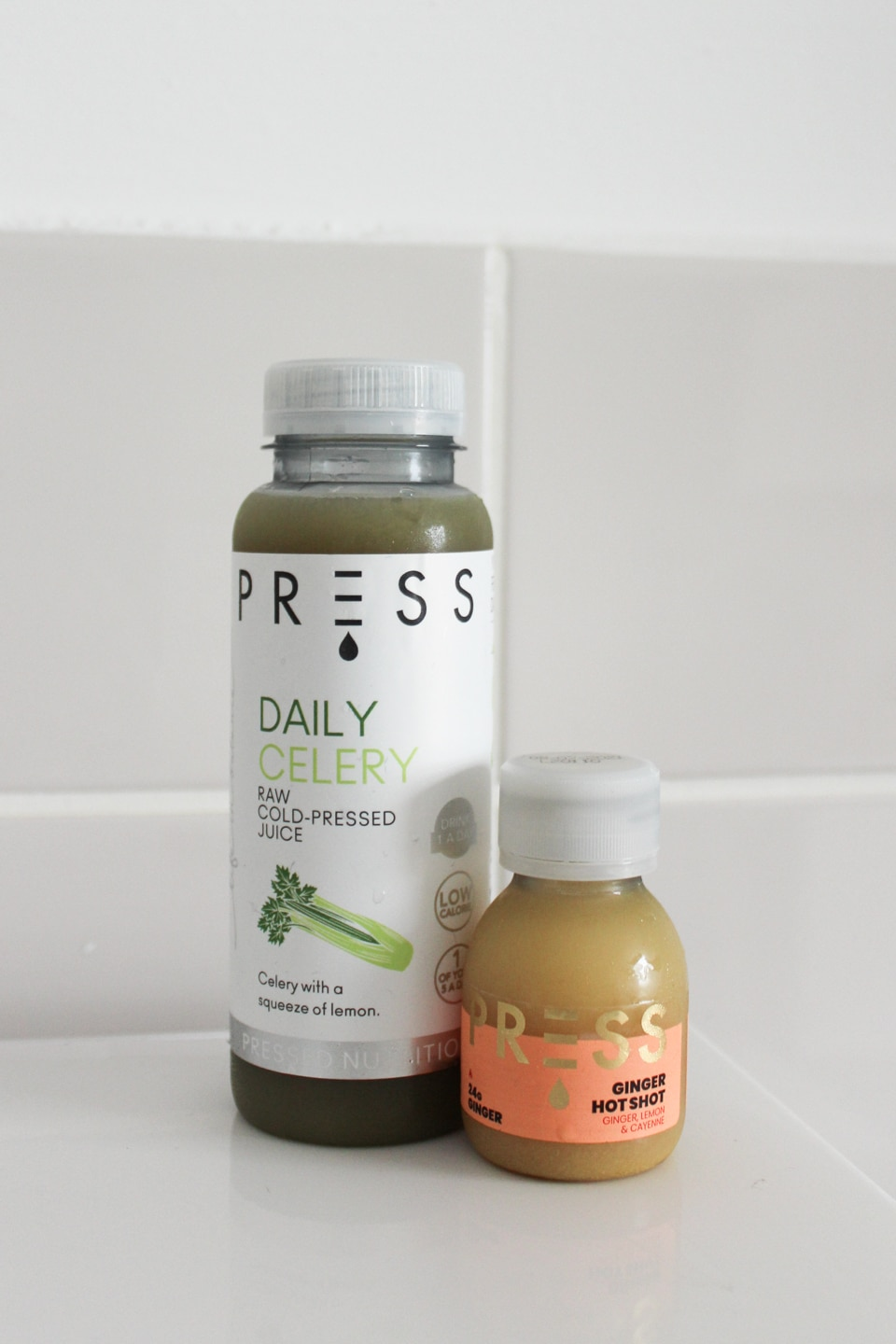 PRESS Daily Celery and Ginger Hot Shot