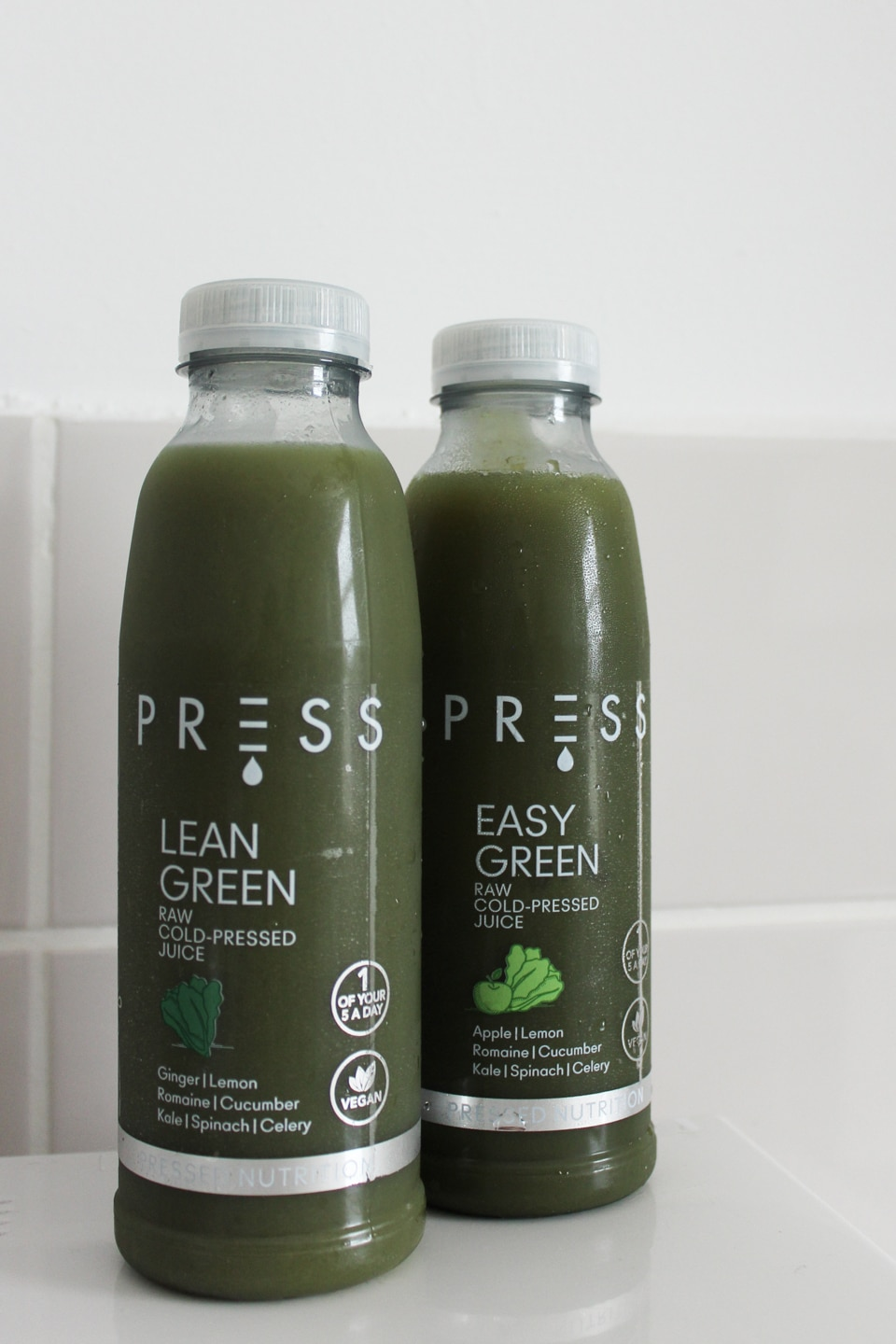PRESS Lean Green and Easy Green Juices