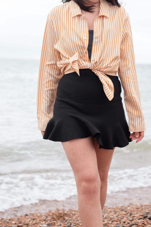 TENCEL Woven Shirt with black skirt