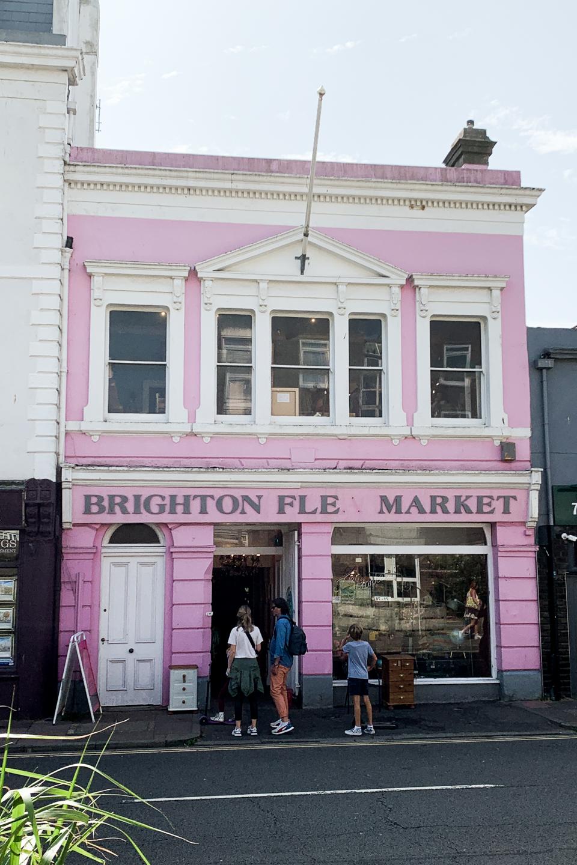 Exterior of Brighton Flea Market