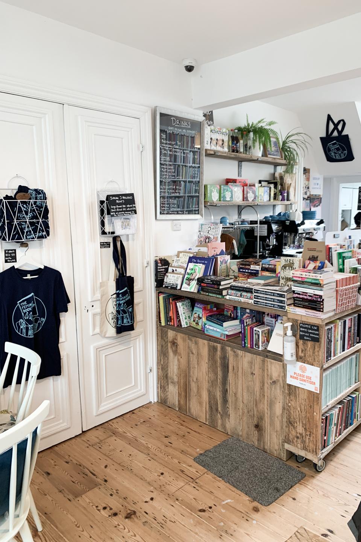 Interior of Feminist Bookshop Brighton