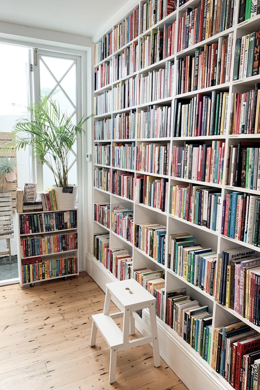 Bookshelves at Feminist Bookshop